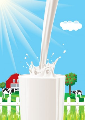 milk theme vector