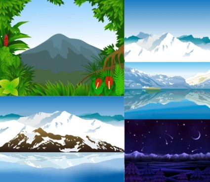 mountains vector design