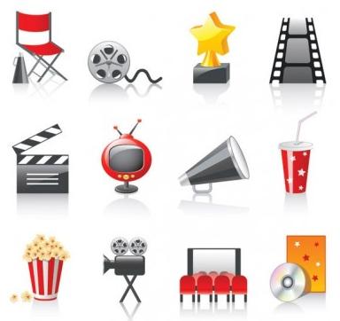 movie icon 3 vector material