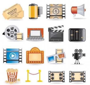 movie icon 4 vectors material