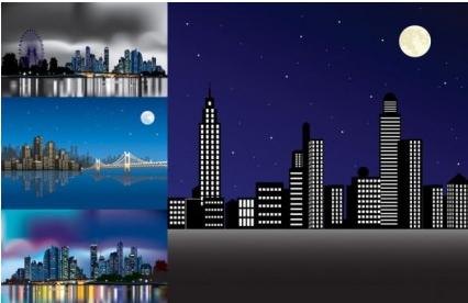 night city under art vector