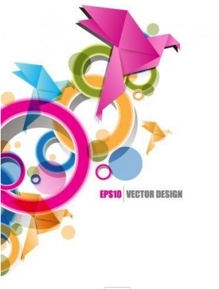origami ribbon design background 2 vector design