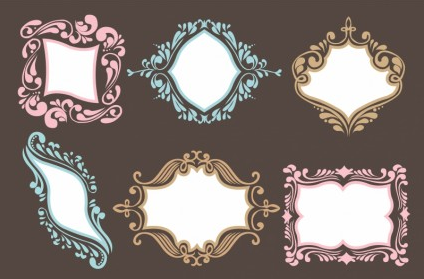 ornamental frame set vector material