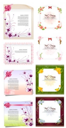paper flowers bow Illustration vector