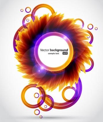 petals background 04 set vector