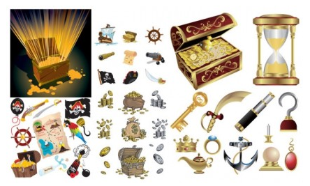 pirate treasure series vectors graphics