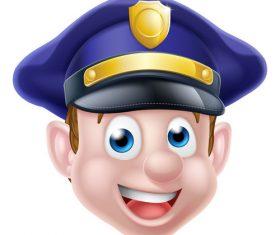 police cartoon face illustration vector