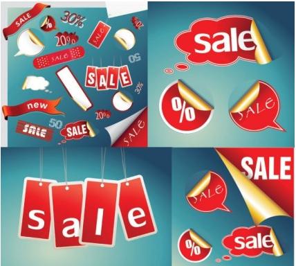 practical icon sales discount set vector