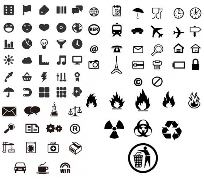 practical small icon identification vector