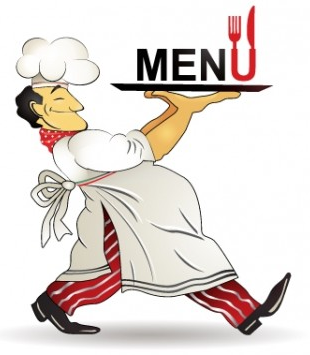 restaurant menu chef pattern vector design