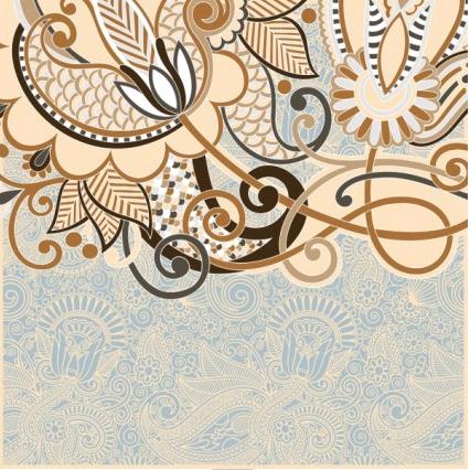 retro classic pattern background 03 vector