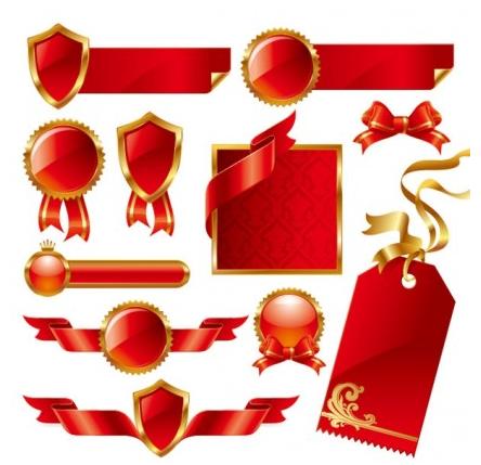 ribbon theme vectors