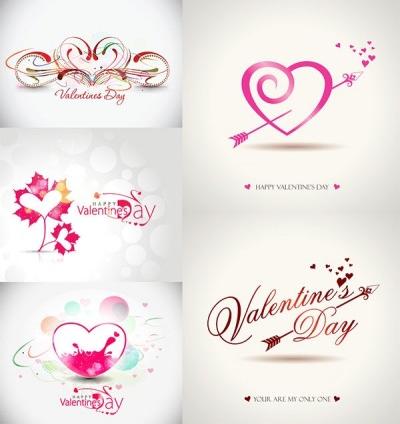 romantic valentine day graphics design vector