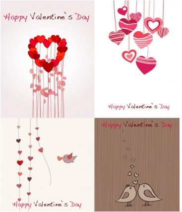romantic valentine day greeting card vector design