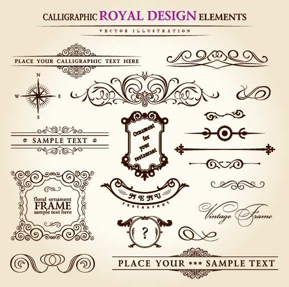 royal calligraphic vector
