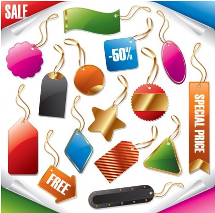 sale tag set vector