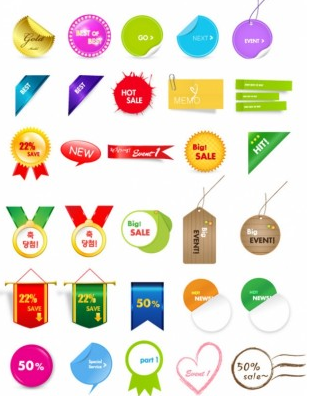 sales discount tag shiny vector
