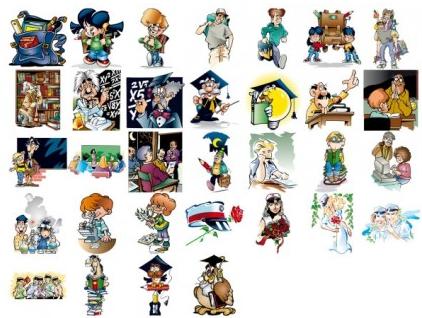 school theme cartoon illustration vector