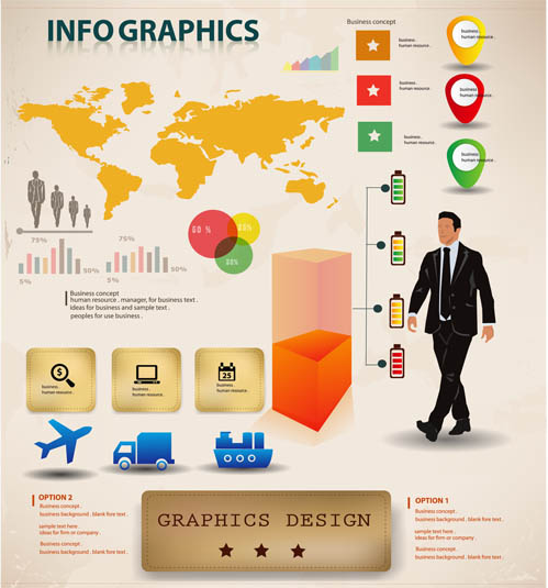 shiny Infographics Elements 2 design vectors