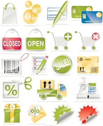 shopping icon vector design