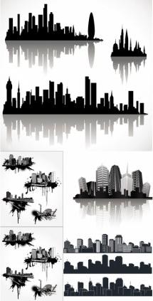 silhouette city vector