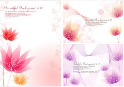 small flower background design vector