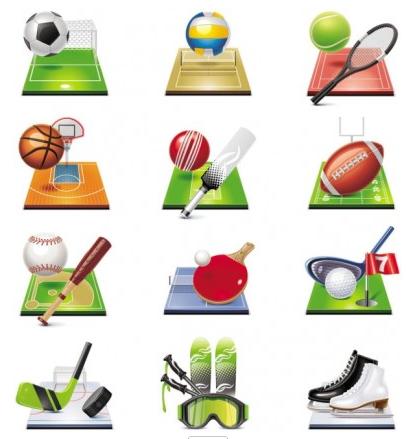 sportsrelated icons 04 vectors