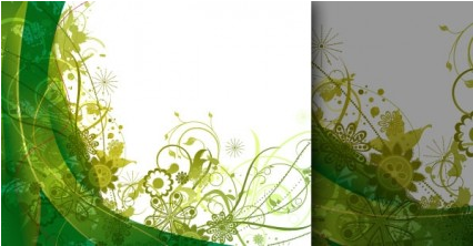 summer background green vectors graphic