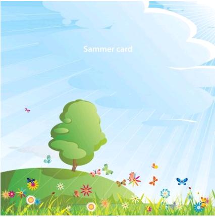 summer cartoon images 05 vector