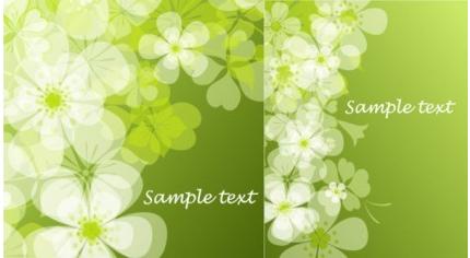 summer flowers background vector set