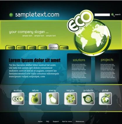 technology website template 02 vector