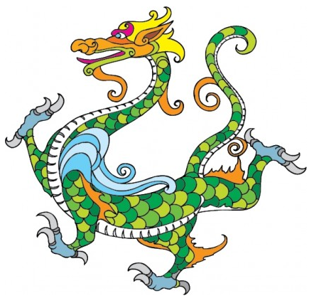 traditional dragon pattern creative vector