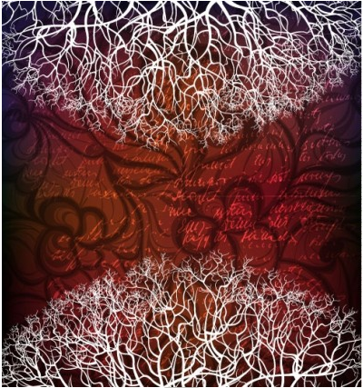 tree silhouette background 03 vector
