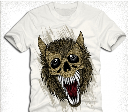 tshirt design with wolf Free vector graphics