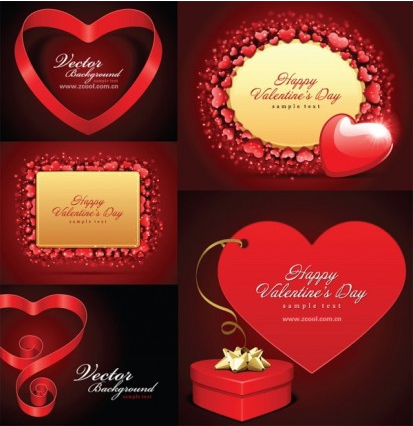 valentine day love card vector material