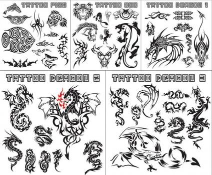 variety animal totem vectors graphic