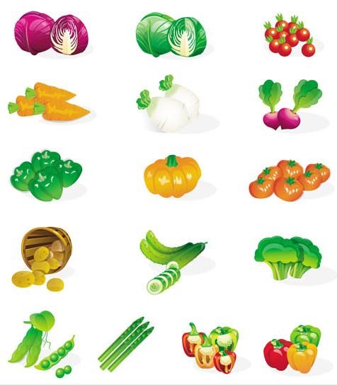 vegetables vectors graphic