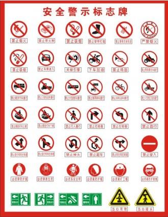 warning signs vectors graphics