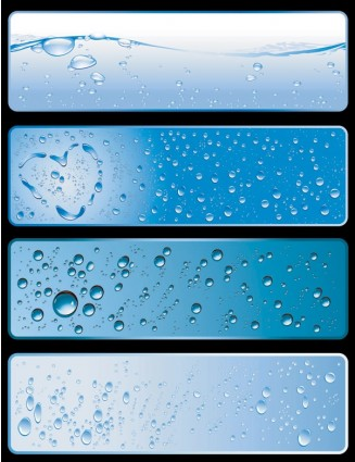 water theme banner vectors