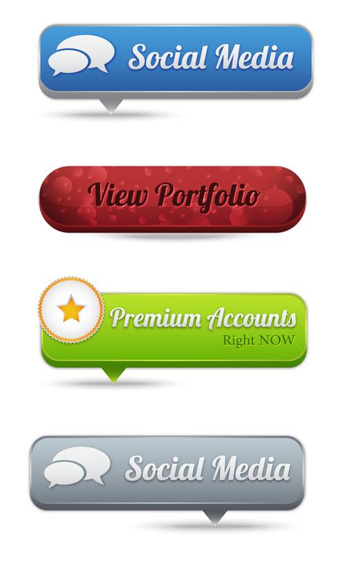 web button 2 creative vector set