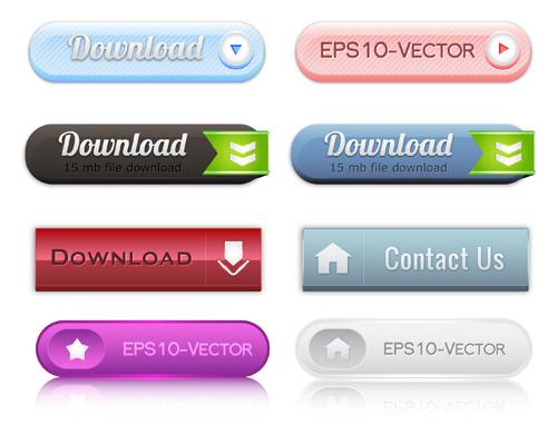 web button 3 creative vector set