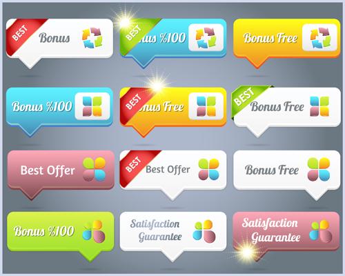 web button 7 creative vector set