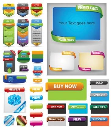 web design decorative art vectors graphics