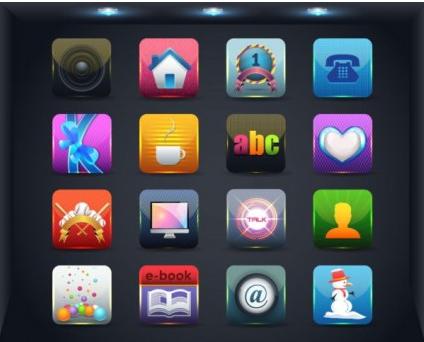 web icon button 03 vector