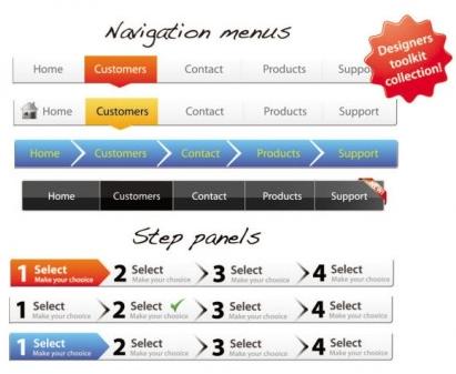 web page navigation bar vector