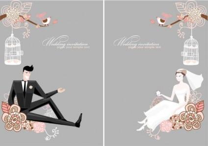 Wedding Background 01 Design Vectors Free Download