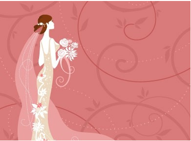 Wedding Card Background 02 Vector Graphics Free Download