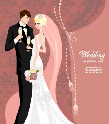 Wedding Card Background 03 Vector Free Download