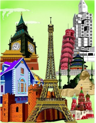 wellknown city building vectors