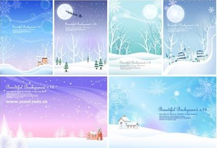 winter snow background vector